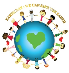 people save the earth vector image