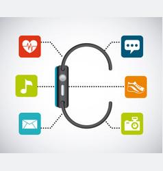 smart watch icon vector image vector image