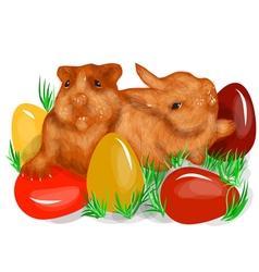 animal fun easter vector image vector image