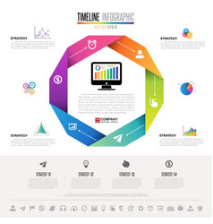 infographics design template with icons set vector image vector image