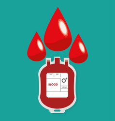 plastic bag blood drop design vector image vector image
