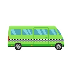 Taxi bus vector image