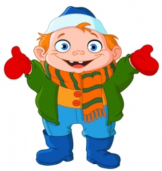 winter kid vector image vector image