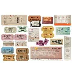 World traveller tickets collection vector image vector image