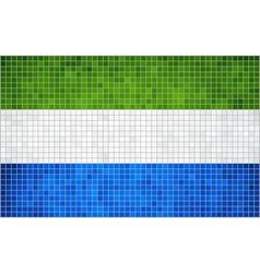 Abstract Mosaic Flag of Sierra Leone vector