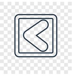 Backward arrow concept linear icon isolated on vector