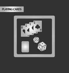 Black and white style board card chip vector