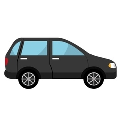 Black suv car graphic vector