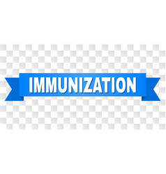 Blue stripe with immunization title vector