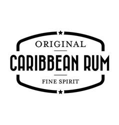caribbean rum vintage stamp vector image
