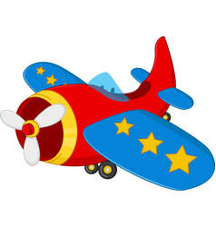 cartoon air plane vector image