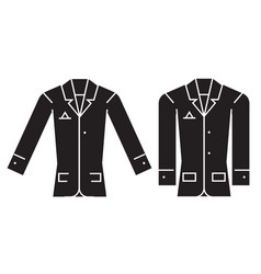 casual jacket black concept icon casual vector image