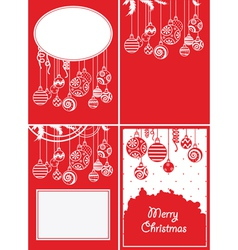 christmas ball backgrounds vector image