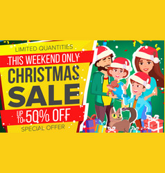 Christmas sale banner special offer sale vector