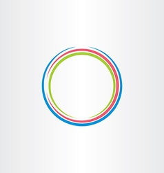 Circle colorful frame icon background design vector