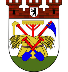 Coat of arms pankow in berlin germany vector