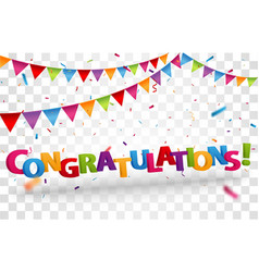 congratulations design letters vector image