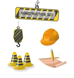 Construction Symbol Icon Object Set A vector image