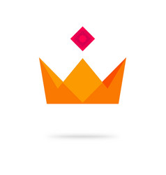 crown king royal geometric icon logo or vector image
