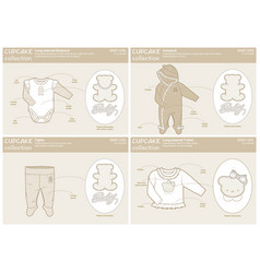 cute collection for baby girls vector image