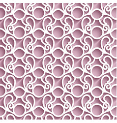 Cutout paper lace pattern vector