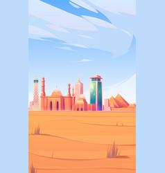 egypt landmarks cairo city skyline mobile screen vector image