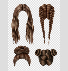 Female hairstyles set vector