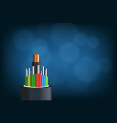 Fiber optical cable vector