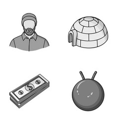 Finance travel and other monochrome icon in vector