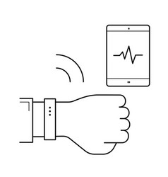 fitness tracker line icon vector image
