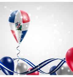 Flag of Dominican Republic on balloon vector image