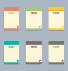 Flat Design Colorful Memo vector