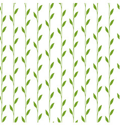 floral pattern with green leaves and branches vector image