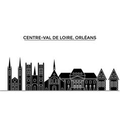 France centre val de loire orleans architecture vector
