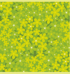 fresh green seamless pattern for surface design vector image