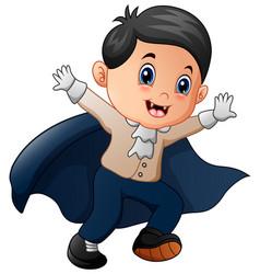 Funny cartoon little vampire vector