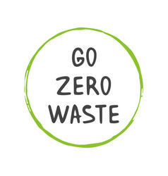 Go zero waste template for poster and banner vector