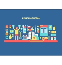 Health control design concept vector image