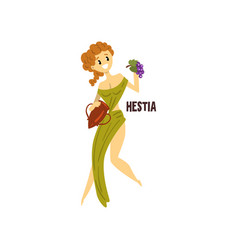 Hestia olympian greek goddess ancient greece vector