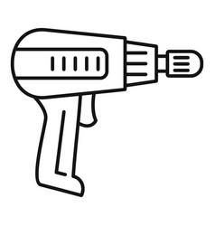 Home electric drill icon outline style vector
