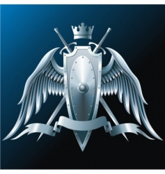 iron wings vector image