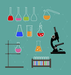 laboratory research equipment for medicine vector image