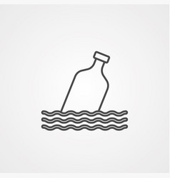 message icon sign symbol vector image