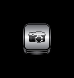 Metal plate camera photography theme icon button vector