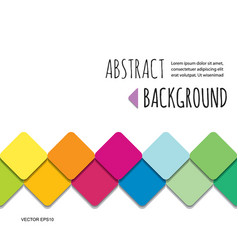 Mosaic 3d paper cut out abstract background vector