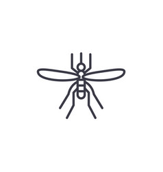mosquito line icon sign on vector image