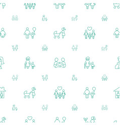 Mother icons pattern seamless white background vector
