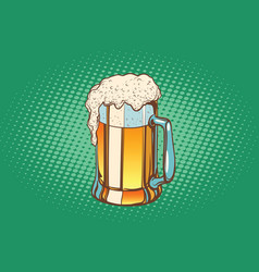 mug of foamy beer vector image