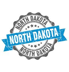 north dakota round ribbon seal vector image