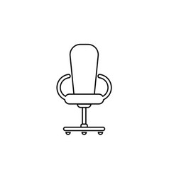 office chair line flat vector image